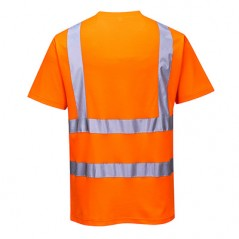 T-shirt manches courtes coton col rond respirant absorbant